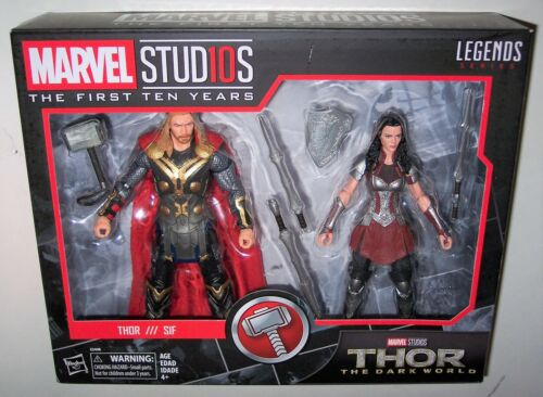 Marvel First Ten Years THOR /& LADY SIF 2-Pack The Dark World Legends