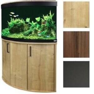 Used Normal Wear 30 Gallon Corner Aquarium Tank With Stand Includes Filter Heater Water Flow Pump Thermostat Decorations Plastic Plants