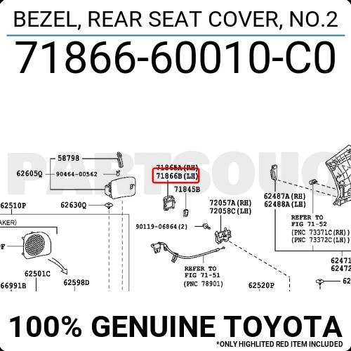 Front Left Honda Genuine 81531-T0G-A01ZA Seat Cushion Trim Cover