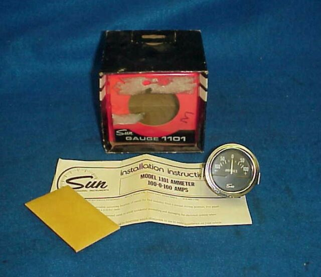 buy vintage sun ammeter amp gauge chevy ford dodge buick amc hot rat rod  1101 online | ebay