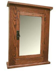 Image Is Loading Solid Oak Mission Recessed Medicine Cabinet Light Finish