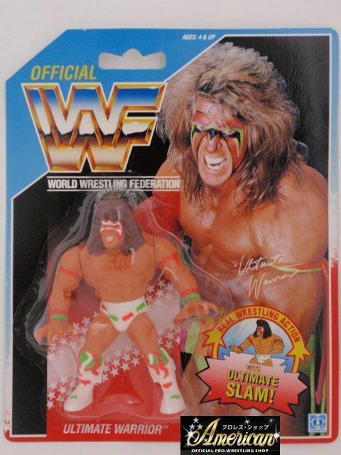Mercancía de alta calidad y servicio conveniente y honesto. WWF PRO_WRESTLING FiguraS Ultimate Ultimate Ultimate Warrior 91 azul Coched US Coched version o=14  Ven a elegir tu propio estilo deportivo.