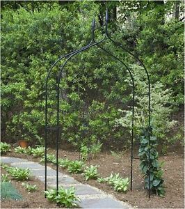 Garden arch 8 39 arbor metal climbing plant flower vine yard - Garden arch climbing plants ...