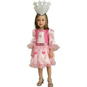 Girls Wizard of Oz Glinda Pink Costume Dress and Crown Child Small ...