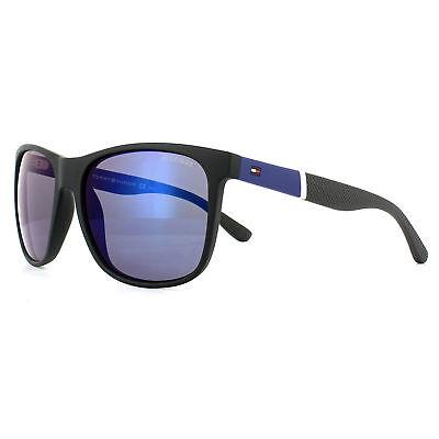 2019 Neuestes Design Tommy Hilfiger Sunglasses Th 1281/s Fma Xt Black Blue Blue Mirror Up-To-Date-Styling Kleidung & Accessoires Sonnenbrillen & -zubehör