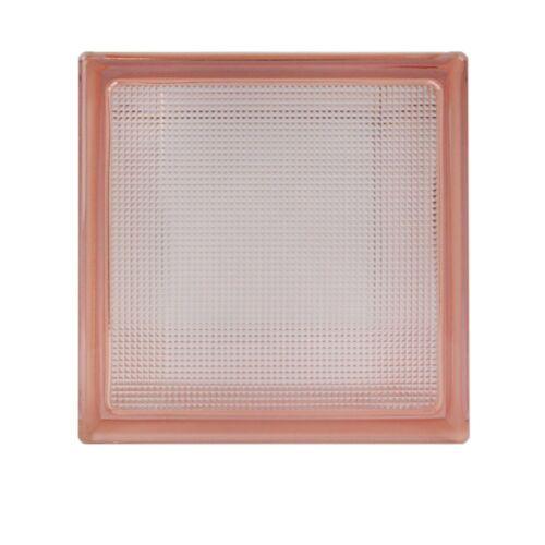 5 Stück Fuchs Glasbausteine Glassteine Samba Rosa 19x19x8cm Pink