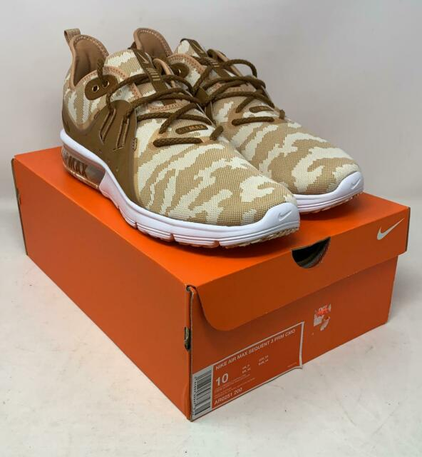 7afc7e89fe Nike Air Max Sequent 3 PRM CMO Ar0251 200 Light Cream Camouflage Men's Size  10 for sale online   eBay