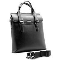 Fashion 1st Layer Briefcase Genuine Leather Business Handbag Shoulder Messenger