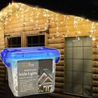 SNOWTIME Outdoor LED Multi Function Christmas Icicle Lights in Choice of Colours Warm White 300