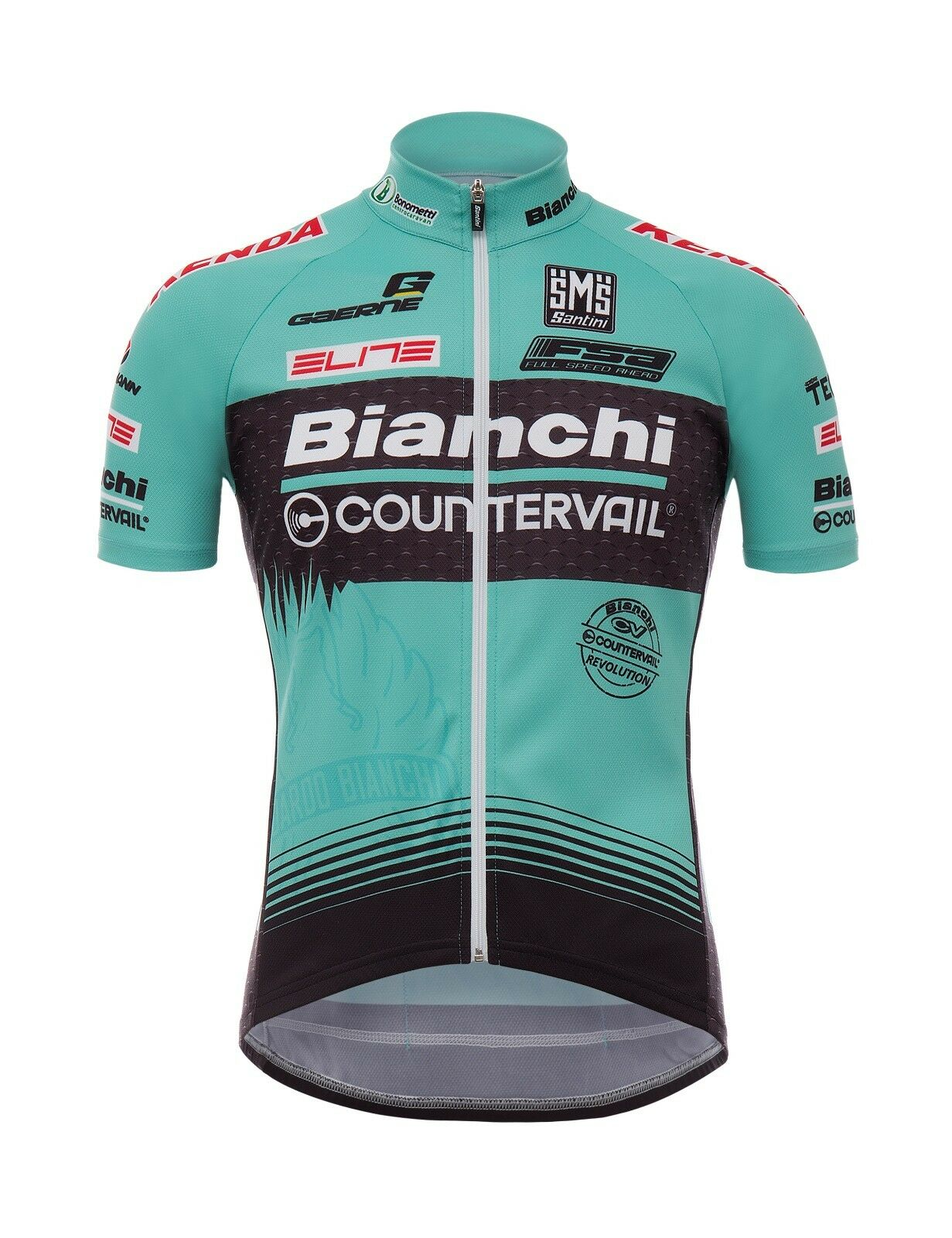 2017 Bianchi MTB Team Classic fit in CYCLING JERSEY Made in fit  by Santini e4b322