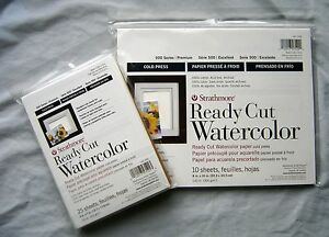 Strathmore Ready Cut Watercolor Paper Series 500 Your Choice of Size and Type