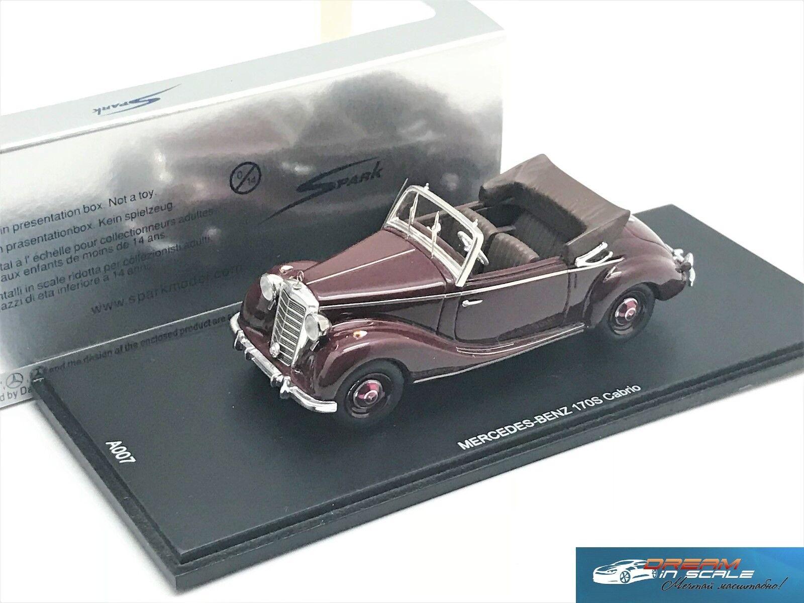 Mercedes Benz 170 S Cabrio Spark A007 Resin 1 43