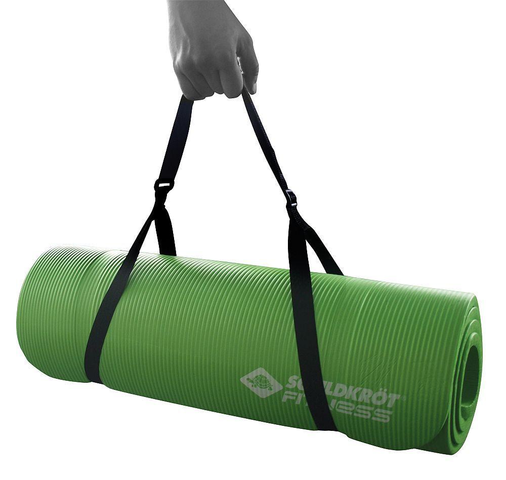 Schildkröt Fitness Yoga Yoga Fitness Matte PVC Fitnessmatte grün 180 x 61 x 1,5 cm Tragegurt 598425