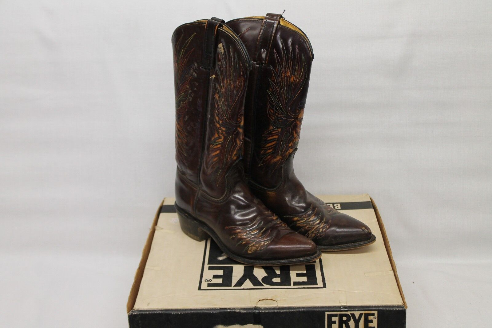 ACME Braun Leder Cowboy Western Stiefel Damenschuhe 7.5 C 80515