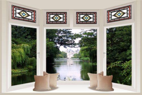 Huge 3D Bay Window Enchanted Garden View Wall Stickers Mural Wallpaper 173