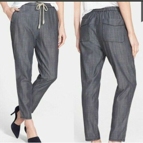 Eileen Fisher Chambray Denim Pants Size Large