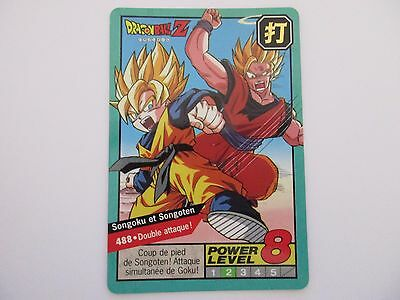 carte-card dbz dragon ball z carddass power level le grand combat prism bandai