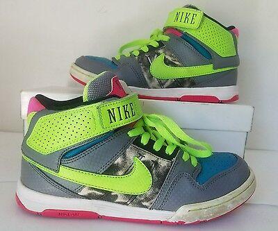 Nike AIR MOGAN MID 2 GreenBlueGray Athetic Sneaker 407479 336 Women Sz 6 M | eBay