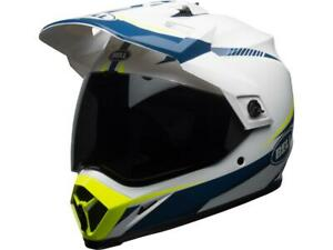 Casque-moto-route-integral-BELL-MX-9-Adventure-mips-torch-jaune-bleu-blanc