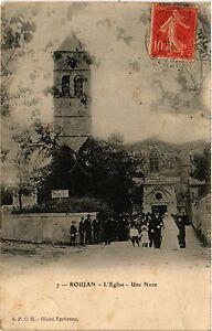 CPA Roujan - L'Eglise Une Noce (255466)