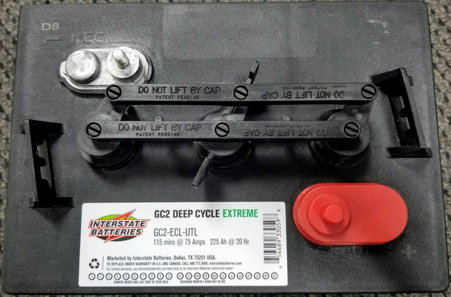 Interstate Batteries Gc2 Ecl Utl 6v 225ah Battery