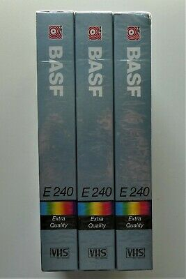 3x Basf E240 Extra Quality Cassette - New And Sealed