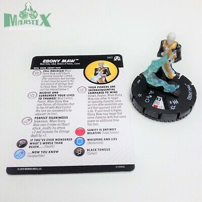 Black Panther /& Illuminati Captain Britain #055 Super Rare! Heroclix Avengers