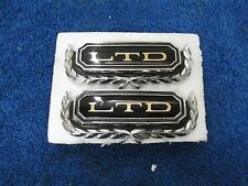 1967-72 FORD GALAXIE  LTD DOOR PANEL EMBLEMS  PAIR  NOS FORD 1015