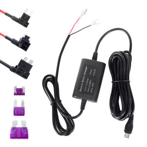 Universal-Hard-Wire-Fuse-Box-Car-Recorder-Dash-Cam-Hard-Wire-Kit-Micro-USB-UK