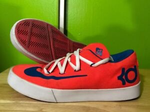 official photos c340d efdba Image is loading Boys-NIKE-Kevin-Durant-Shoes-Size-6Y-Orange-