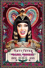 "KATY PERRY ""DARK HORSE - 02.20.14"" U.S. PROMO POSTER - Jewels On Her Teeth"