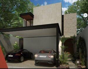 Venta de casa  3 recámaras en privada Zendera con piscina en Conkal al  norte de Mérida