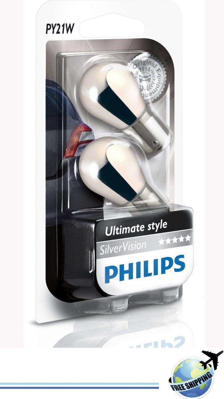 Philips PY21W SilverVision 12496SVB2 Turning INDICATOR bau15s blister of 2