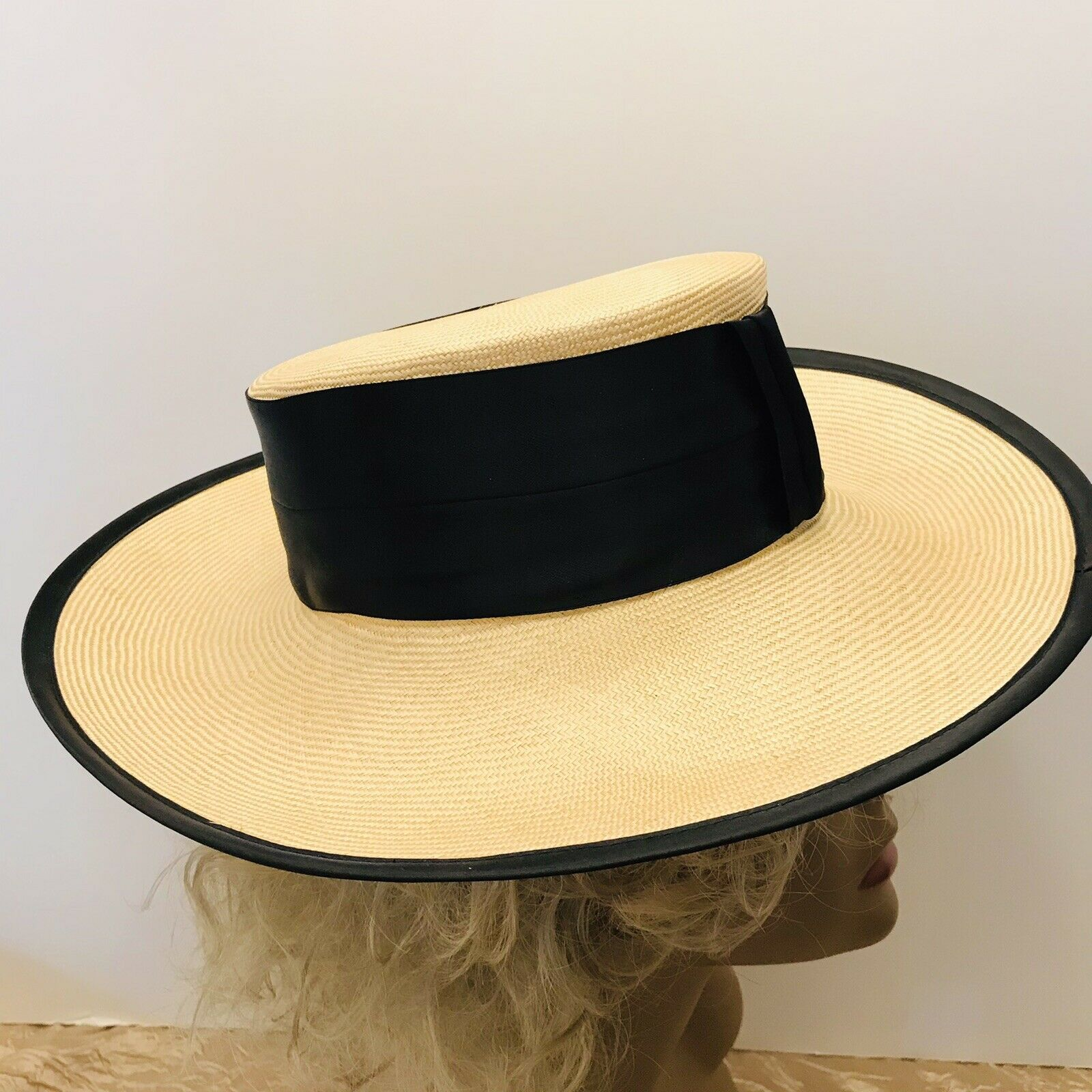 Capo Couture From Austria Vintage Straw Wide Brim… - image 2