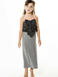 086f5d55e Joah Love Tinley Gray Black Pink Girls Spring Summer Jersey Maxi ...