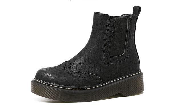 Stiefel elegant elegant elegant niedrig komfortabel 3.5 cm schwarz simil Leder CW806   b43407