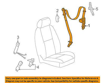 gm oem front seat-belt & retractor right 19256144   ebay  ebay