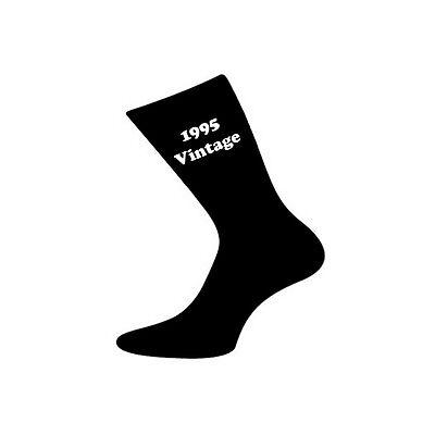 1995 Vintage Da Uomo Nero Sock Calzini 20th Compleanno-x6v1995v-mostra Il Titolo Originale