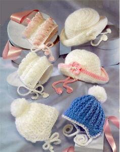 Crochet-Pattern-Lovely-selection-baby-hats-to-crochet-Prem-12-months-DK-Aran