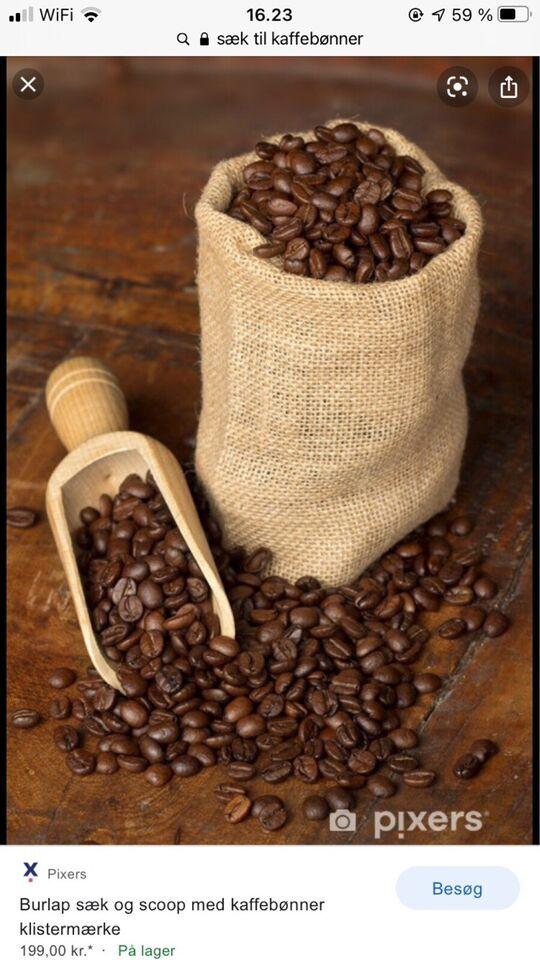 Kaffe-sæk og antik GIGANTISK zink håndskovl ,