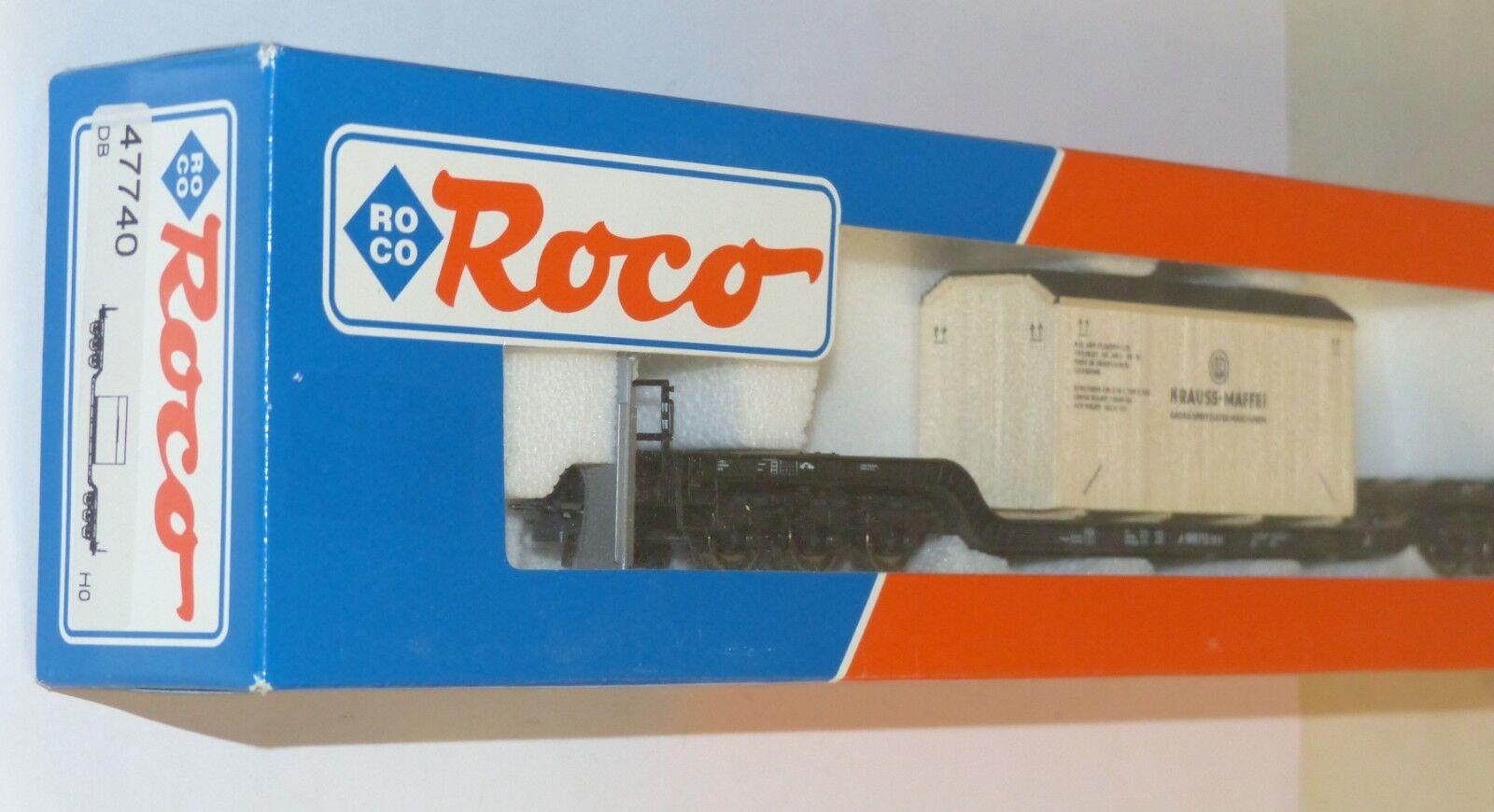 Roco 47740 47740 47740 Tiefladewagen mit Holzkiste Krauss Maffei DB H0 1 87 OVP TOP wie neu 568e97
