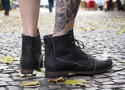 HUB Footwear Herrenschuhe Schnürschuhe LOMU black black Echtleder Herrenstiefel