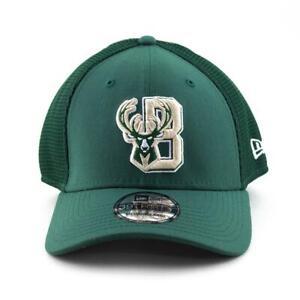 Milwaukee-Bucks-New-Era-Cap-NBA-39Thirty-Curved-Brim-Hat-in-Green-Gym