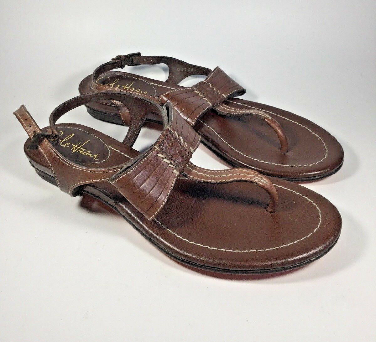 M3418L New Cole Haan Women's Brown Leather Sandal US 7 M