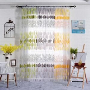 EE-LX-CN-FM-Fashion-Leaf-Pattern-Sheer-Window-Curtain-Room-Divider-Drape-Hom