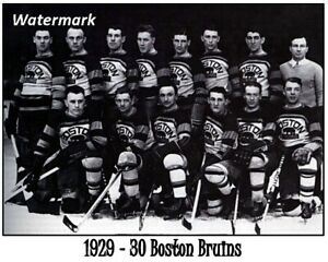NHL-1929-30-Boston-Bruins-Team-Picture-Black-amp-White-8-X-10-Photo-Picture
