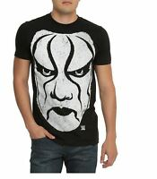 Wwe Sting Mask Men's Black Short Sleeve T-shirt Various Sizes