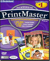 Printmaster 18 Platinum Print Master Design Publishing Software Windows Cd