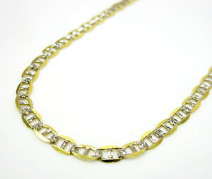 2-5mm-16-22-034-10K-Two-Tone-Gold-Diamond-Cut-Mariner-Anchor-Cuban-Chain-Necklace