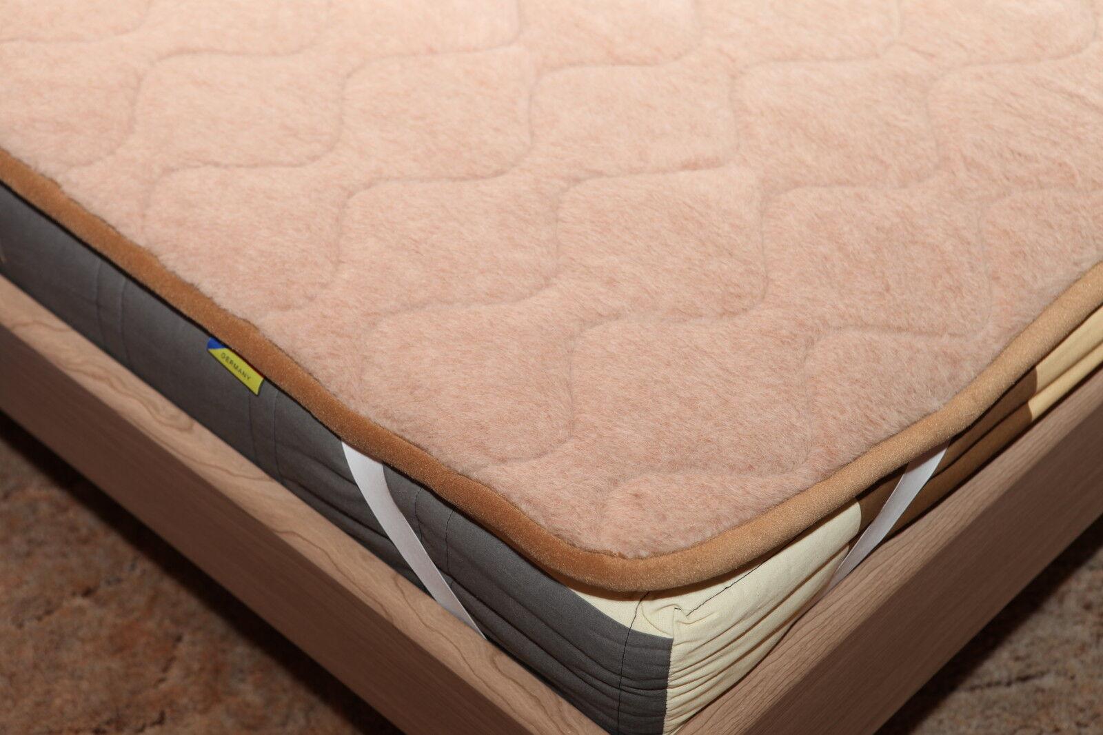 Unterbett Lama Alpaka gesteppt Matratzenauflage Bettauflage 530 g m² 160x200